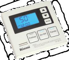 Remote-controle-Rinnai-B3h